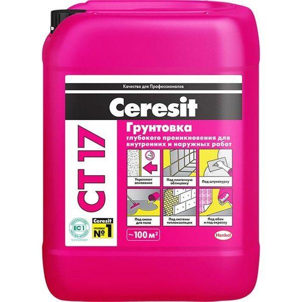 Грунт для впитывающих оснований Ceresit CT17
