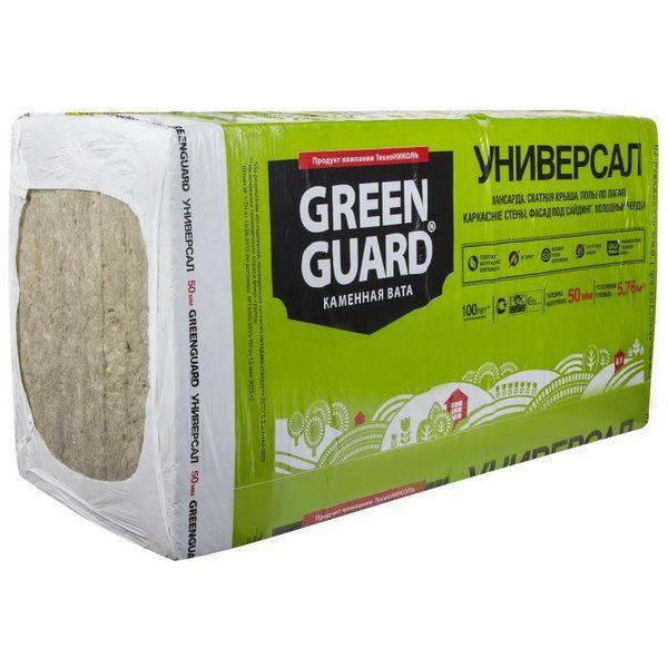 Каменная вата GreenGuard УНИВЕРСАЛ 50 мм со склада в Москве