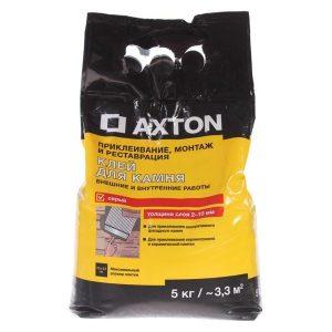 Клей для камня Axton 5 кг цвет серый со склада в Москве