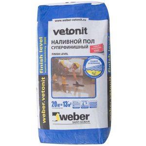 Наливной пол суперфинишный Weber Vetonit Finish Level