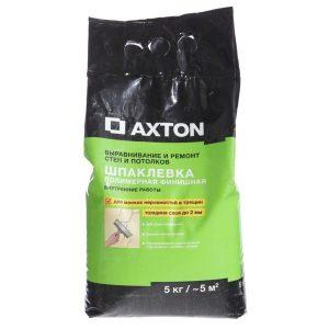 Шпаклевка полимерная финишная Axton 5 кг со склада в Москве