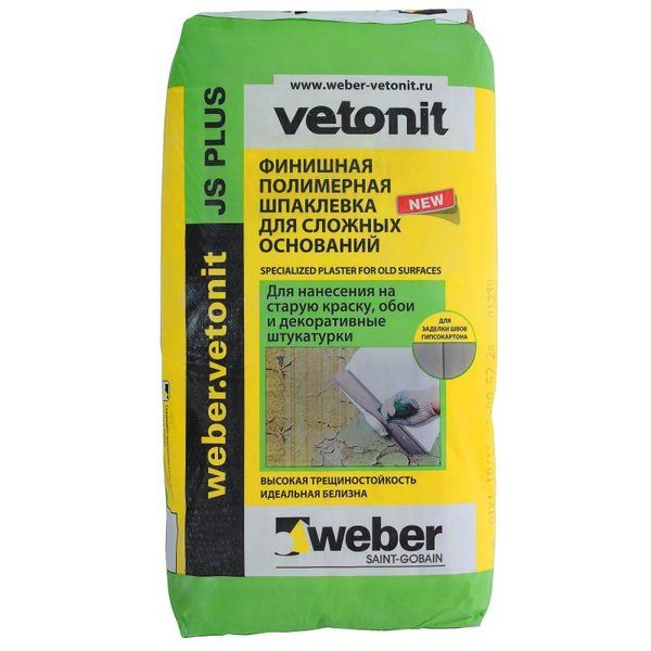 Шпаклёвка Weber Vetonit JS Plus