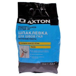 Шпаклёвка для швов гипсокартона Axton 5 кг со склада в Москве
