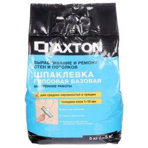 Шпаклёвка гипсовая базовая Axton 5 кг со склада в Москве