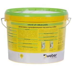 Шпаклёвка готовая Weber vetonit pasta 18 кг со склада в Москве