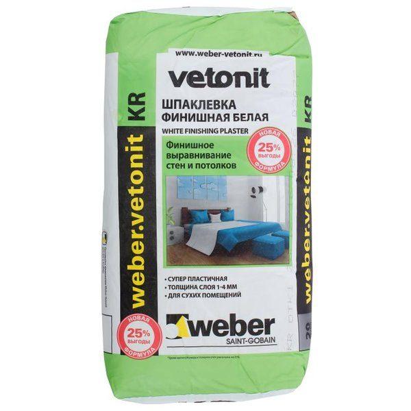 Шпаклёвка полимерная финишная Weber Vetonit KR