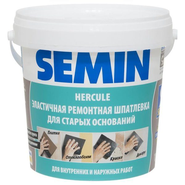 Шпаклёвка полимерная влагостойкая Semin Hercule