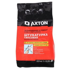 Штукатурка гипсовая Axton 2.5 кг со склада в Москве