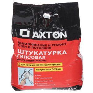 Штукатурка гипсовая Axton 5 кг со склада в Москве