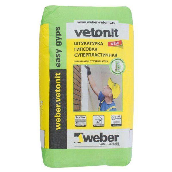 Штукатурка гипсовая Weber Vetonit easy gips