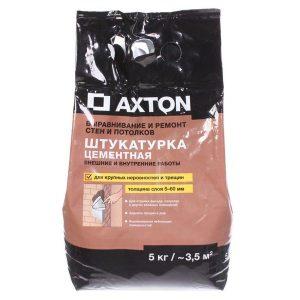 Штукатурка цементная Axton 5 кг со склада в Москве
