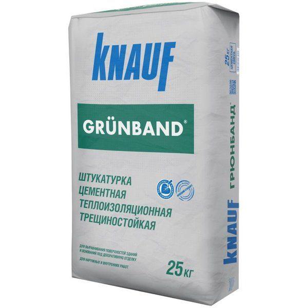 Штукатурка цементная теплоизоляционная Knauf Грюнбанд