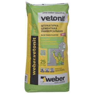 Штукатурка цементная универсальная Weber Vetonit Facade Grey