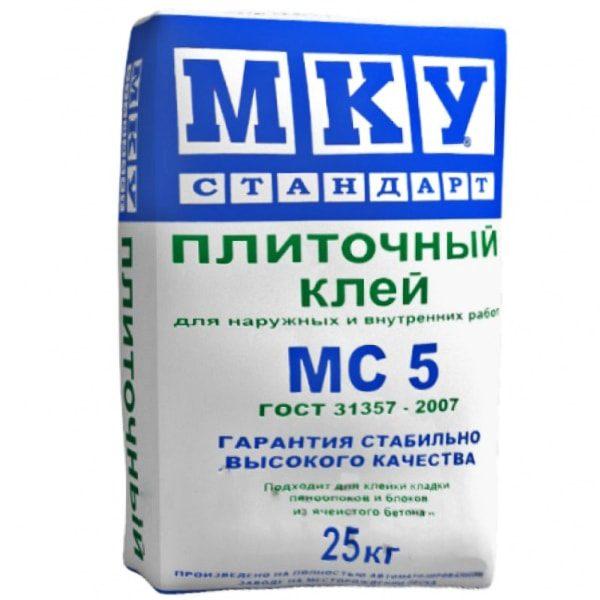 Клей для плитки МКУ МС5 25 кг со склада в Москве