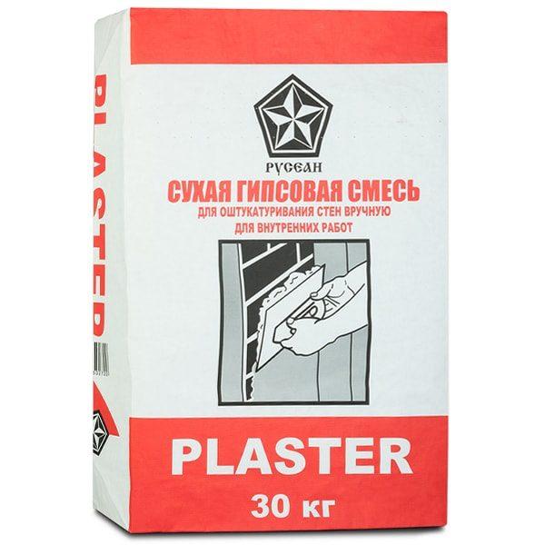 Штукатурка гипсовая Русеан Пластер 30 кг  со склада в Москве