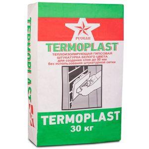 Штукатурка гипсовая белая Русеан Термопласт 30 кг со склада в Москве