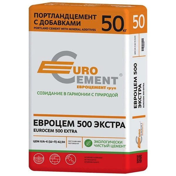 Цемент ПЦ-500 Экстра 50 кг