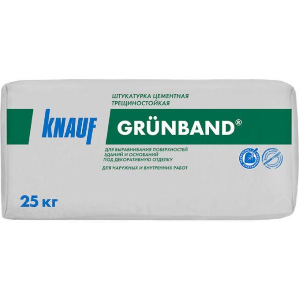 Цементная штукатурка Knauf Грюнбанд 25 кг