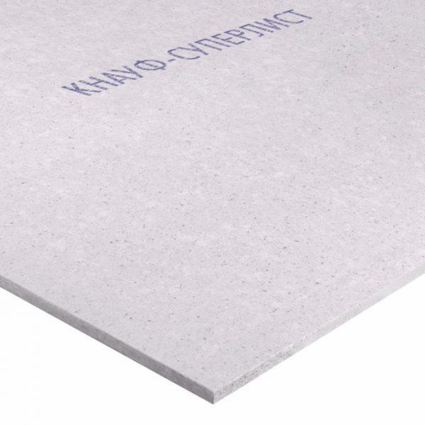 Гипсоволокнистый влагостойкий лист Knauf Суперлист 2500х1200х10 мм