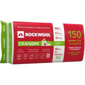 Каменная вата Rockwool ЛАЙТ БАТТС СКАНДИК 800x600x50 мм 5.76 м2