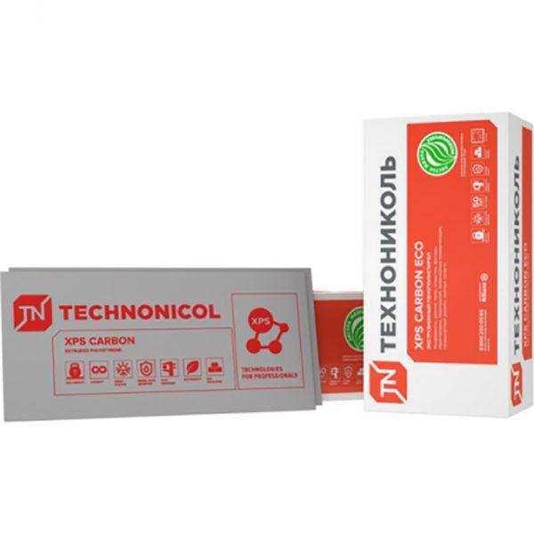 Теплоизоляционные плиты XPS ТехноНиколь Carbon Eco 1180x580x30-L 0.267 м3 в упаковке, 13 шт.