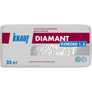 Цементная штукатурка Knauf Диамант Короед 1.5 25 кг