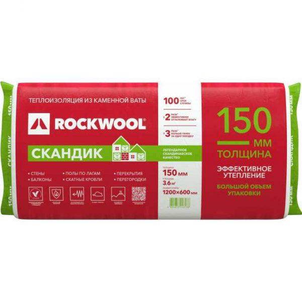 Каменная вата Rockwool ЛАЙТ БАТТС СКАНДИК 800x600x100 мм 2.88 м2