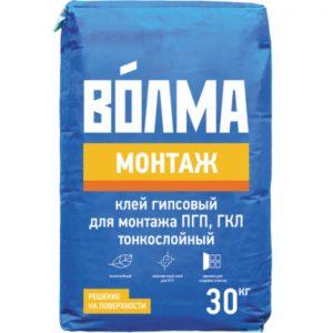 Клей ВОЛМА Монтаж гипсовый 30 кг