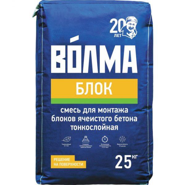Клей монтажный Волма Блок серый 25 кг