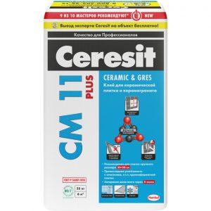 Клей CERESIT CM 11 PLUS плиточный 25 кг