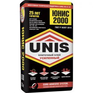Клей UNIS 2000 плиточный 25 кг