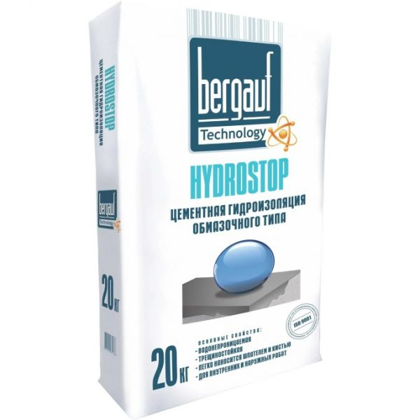 Гидроизоляция обмазочная Bergauf Hydrostop 20 кг