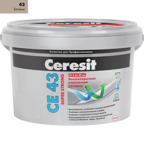 Затирка Ceresit CE-43 Super Strong 2 кг Багама 43