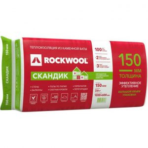 Каменная вата Rockwool ЛАЙТ БАТТС СКАНДИК 1200х600х150 мм 3.6 м2 0.54 м3 в упаковке