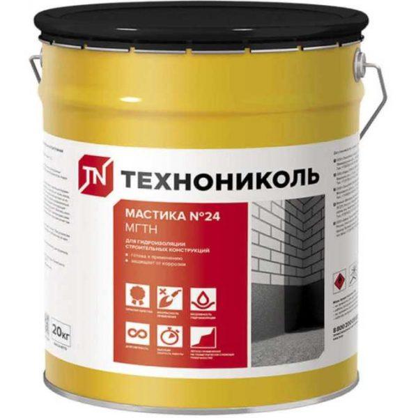 Мастика гидроизоляционная ТехноНИКОЛЬ № 24 МГТН 20 кг