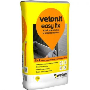 Клей WEBER-VETONIT EASY FIX плиточный 25 кг