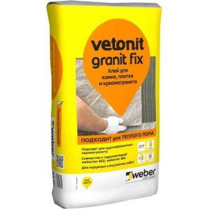 Клей WEBER-VETONIT GRANIT FIX для керамогранита 25 кг