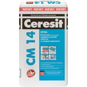 Клей для плитки Ceresit CM 14 Extra 25 кг