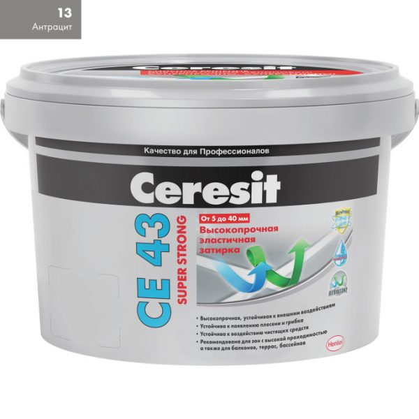 Затирка Ceresit CE-43 Super Strong 2 кг антрацит 13