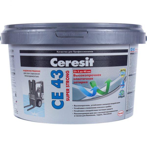 Затирка Ceresit CE-43 Super Strong 2 кг темно-коричневый 58