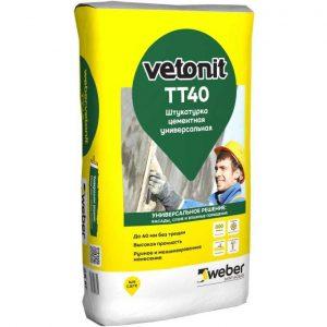 Штукатурка цементная Weber Vetonit ТТ40 универсальная 25 кг