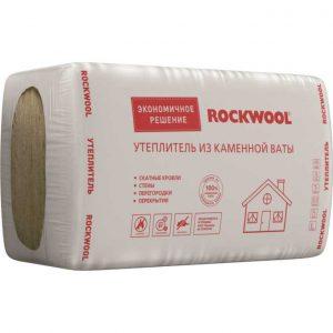 Каменная вата Rockwool УТЕПЛИТЕЛЬ ЭКОНОМ 1000x600x100 мм 3.6 м2 0.36 м3 в упаковке