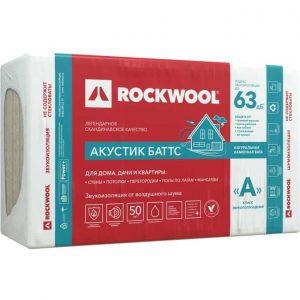 Каменная вата Rockwool АКУСТИК БАТТС 1000x600x100 мм 3 м2 0.3 м3 в упаковке
