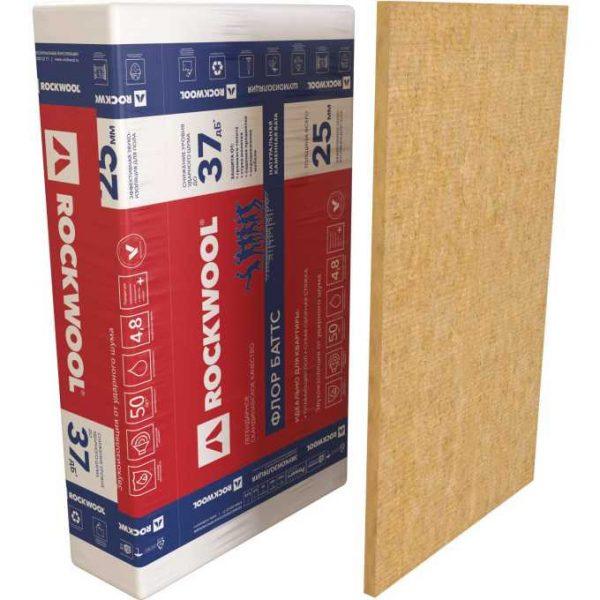 Каменная вата Rockwool ФЛОР БАТТС 1000x600x25 мм 4.8 м2 0.12 м3 в упаковке