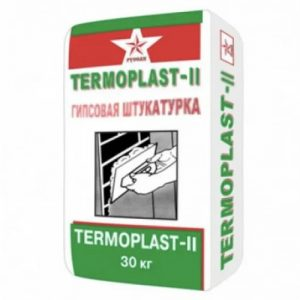 Штукатурка гипсовая белая Русеан Термопласт-2, 30 кг